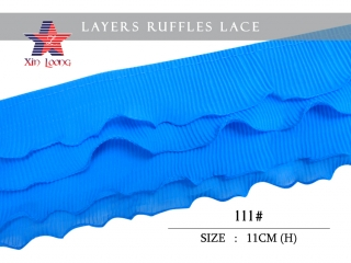 Chiffon Pleated Ruffle Lace (meter)