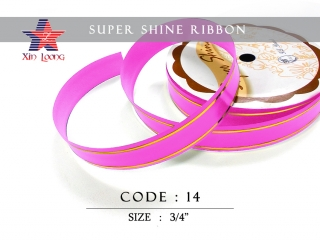 Golden Line Super Shine Ribbon : 3/4 inch