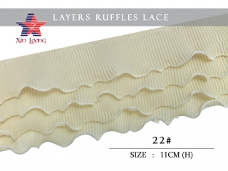 Chiffon Pleated Ruffle Lace (meter)