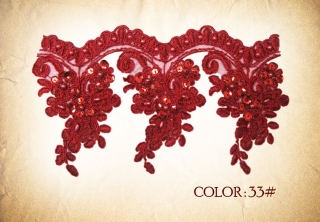 LACE 33#- RED