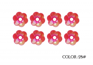 28#- dark pink rainbow