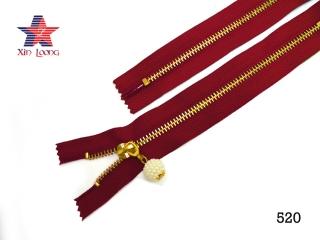 Golden Brass Metal Zipper A