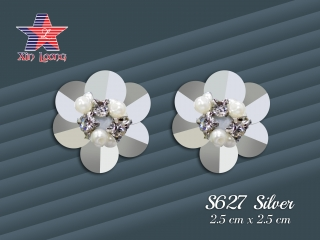 S627 3D sequin Flowers