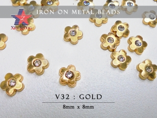 Iron On Metal Beads