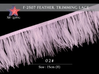 F2507 Ostrich Feather  Lace