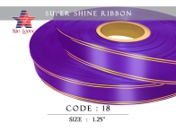 Golden Line Super Shine Ribbon : 1.25 inch