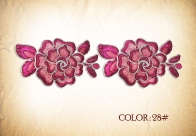 Embroidery Lace 421 -3D flowers
