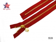Golden Brass Metal Zipper A