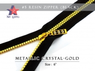 #5 Rezin Zipper : Metallic Crystal