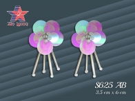 S625 Sequin flower with bugles beads
