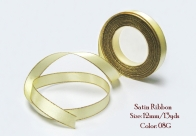 12MM Satin Ribbon with Gold / Silver Edge