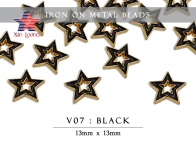 V07  Iron on Metal Beads - Star