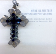 Handmade Beaded Cross Pendant