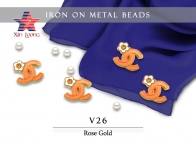 Iron on Metal Beads- Channel
