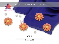 Iron On Metal Beads- flower