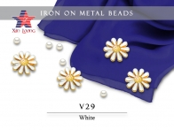 V29 Iron On Metal Beads- flower