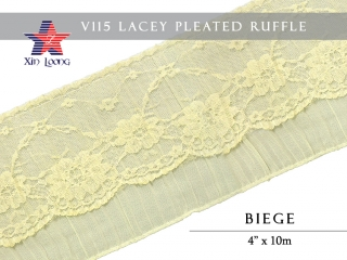 Lacey Pleated Ruffle