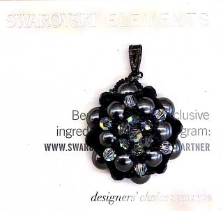 DIY Swarovski Pearl Pendant with Crytstal