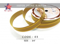 Golden Line Super Shine Ribbon : 3/4 inch