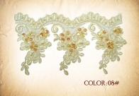 LT-275 border lace with pearl beads