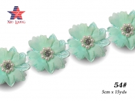 HR01 Embroidery lace & crystal beads