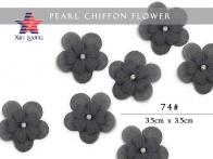 Pearl Chiffon Flower