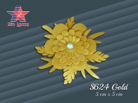 S624 leather 3D flower