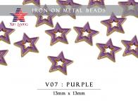Iron on Metal Beads - Star