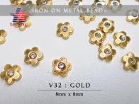 Iron On Metal Beads